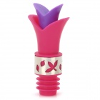 135 Creative Lily Wine Pourer + Stopper - Deep Pink