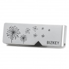 BIZKEY V11 Dandelion Pattern 180 Degree Rotational USB 2.0 Flash Drive - Silver (2GB)