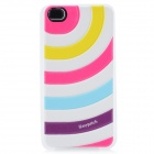 iEasypatch 3D Colorful Strip Pattern Soft Foam Back Sticker for Iphone 4 / 4S - Multicolored