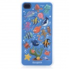 iEasypatch 3D Sea Fishes Pattern Soft Foam Back Sticker for iPhone 4 / 4S - Blue + Yellow + White