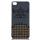 iEasypatch 3D Polka Dot Pattern Back Cover Sticker for Iphone 4 / 4S - Black
