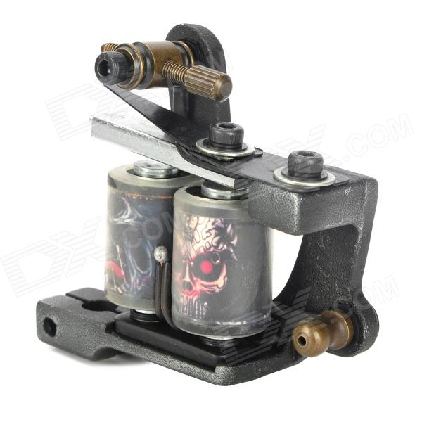 97186 Fashion Design Tattoo Machine Liner Shader Gun - Black