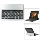 KB651 Aluminum Alloy Bluetooth v3.0 82-Key Keyboard for Tablet PC - Black + Silver