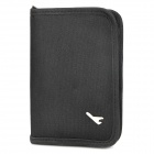 Protective Soft Bag with Zipped Close for Passport - Black