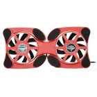 Portable Octopus Radiator Laptops Cooling Pad - Red + Black
