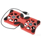 Portable Octopus Radiator Laptops Cooling Pad with Lamp - Red + Black