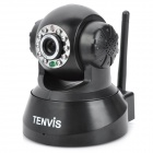 TENVIS 300KP CMOS Surveillance Security Wireless Network Camera w/ 10-LED IR Night Vision - Black