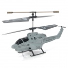 Udi U809 Rechargeable 3.5-CH IR Remote Control Projectile R/C Helicopter w/ Gyro - Light Grey