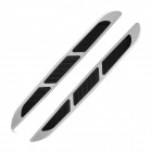 Car 617 Simulation Modified Engine Cover Air Flow Stickers - Black + Silver (Pair)