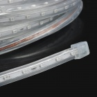 72W 800lm 475nm 300-SMD 3528 LED Blue Light Flexible Lamp Strip w/ 2-Flat-Pin Plug - Transparent