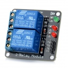 2-Channel 5V Relay Module Expansion Board - Black + Blue
