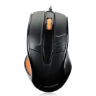 Hyundai HY-M180 USB 2.0 Wired 1000dpi Optical Mouse - Black + Orange (145cm-Cable)