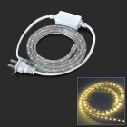 Flexible Water Resistant 4.8W 240lm 3500K Warm White 60-SMD 3528 LED Strip light (220V / 100CM)