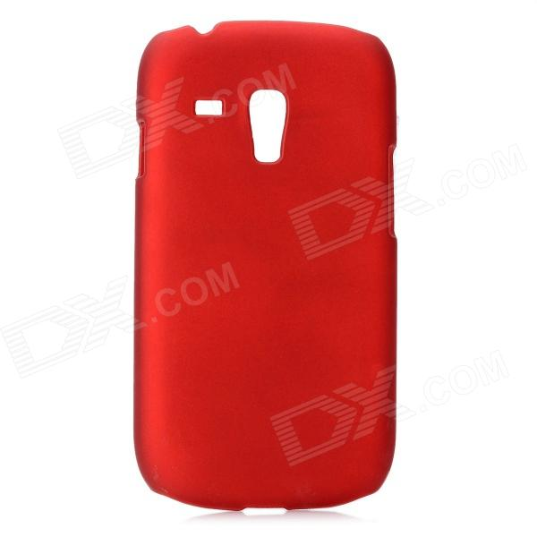 Protective PC Plastic Hard Case for Samsung i8190 Galaxy S3 Mini - Deep Red and22 protective plastic bumper case for samsung galaxy s3 mini i8190 white transparent