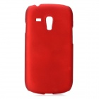 Protective PC Plastic Hard Case for Samsung i8190 Galaxy S3 Mini - Deep Red