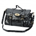 MeiMei Fashion PU Leather Handbag / Shoulder Bag - Black
