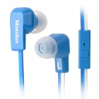 MOSIDUN MSD-500 Stylish Flat Cable In-Ear Earphone w/ Microphone - Blue + White
