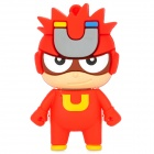 Cute Cartoon Magnet Man Style USB 2.0 Flash Drive - Red (8GB)