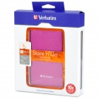 "Verbatim 2.5"" USB 3.0 Mobile HDD - Magenta + Black (1 TB)"