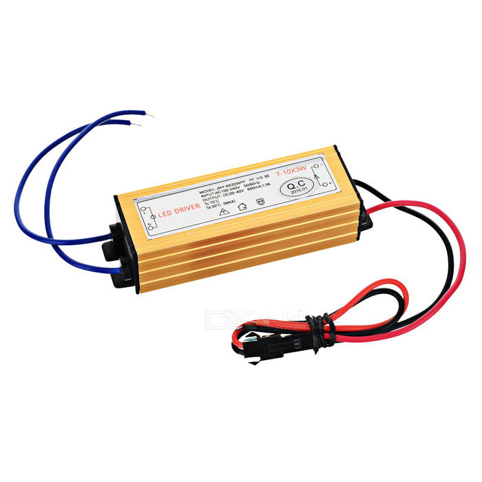 Waterproof 27W LED Constant Current Source Power Supply Driver - Yellow (AC 85~265V) 56w led driver dc45 55v 1 2a high power led driver for flood light street light constant current drive power supply ip65