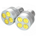 Auto-Bremsen-White Light 4-LED 2W DC12V (2-Pack) Metallic Gehäuse