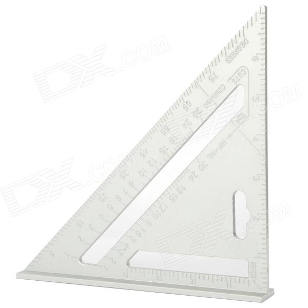 Alumínio Alloy Carpenter Multifunction Triangular Ruler - Prata