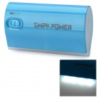 SWPKPOWER SW-B4467 Portable 5200mAh External Battery w/ 5 Adapters - Blue