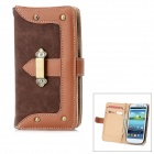 Protective Flip-Open PU Leather Case for Samsung i9300 Galaxy S3 - Brown