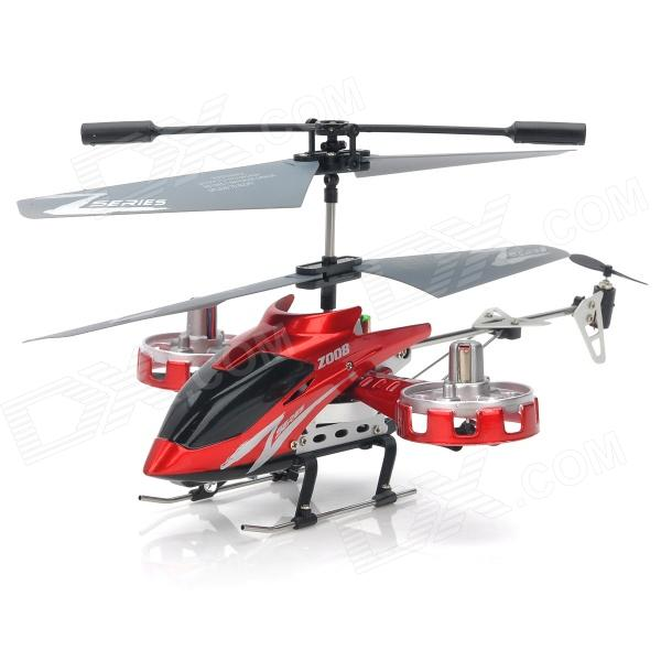 ZR-Z008 Rechargeable 4-CH IR Remote Control R/C Helicopter w/ Gyro - Red + Black