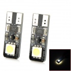 T10 1W 24lm 2-5050 SMD LED White Light Decode Car Clearance / Brake Lamp (2 PCS / 12V)