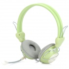 Feinier FE9109 3.5mm Plug Stereo Headphone w/ Microphone - Grey + Green + White