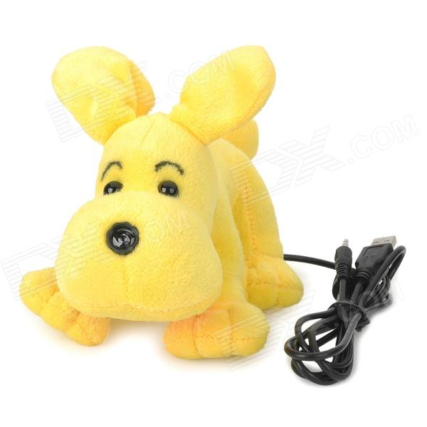 Cartoon Plush KOKO Dog Style 1.2MP Camera Webcam w/ Microphone - Yellow + Black