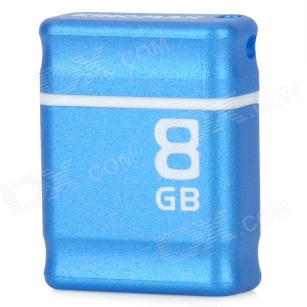 Genuine KINGMAX PI-01 USB 2.0 Flash Drive w / Strap - Blue + White (8GB)