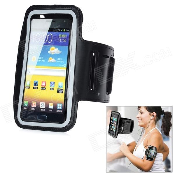 Protective PU + Neoprene Fabric Outdoor Armband for Samsung N7100 - Black