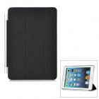 Protective Plastic Smart Cover Stand w/ Back Case for iPad Mini - Black