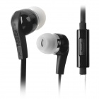BSBESTE BSB-200 Stylish Flat Cable In-Ear Earphone w/ Microphone - Black + White