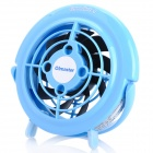 OImaster Mini USB Plastic Fan - Blue + Black