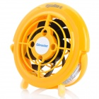 OImaster Mini USB Plastic Fan - Yellow + Black