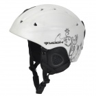 MOON MS-86 Carbon Fiber Outdoor Ski Helmet w/ Clip + Regulator - White