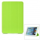 Protective PU Leather Smart Cover for iPad Mini - Fluorescent Green