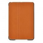 Protective PU Leather Case w/ Folding Smart Cover for iPad Mini - Brown