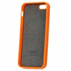 KALAIDENG Fashion Leopard Pattern Protective Back Case for Iphone 5 - Orange + Black