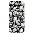 Skull Pattern Protective Back Case for Iphone 5 - Black + White