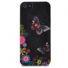 TEMEI Butterfly Pattern Hard Protective Back Case for iPhone 5 - Black