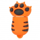 Cute Cat Paw Style USB 2.0 Flash Drive - Orange (8GB)