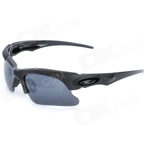 Outdoors Sports UV400 Protection Windproof Sunglasses Goggles for Men - Black