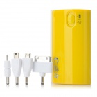 ZTE-88 5-in-1 External 5200mAh Power Bank w/ 4 Adapters / LED Flashlight - Yellow