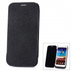 External 3600mAh Battery w/ PU Flip-Open Case for Samsung N7100 - Black