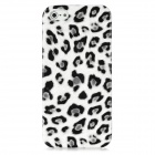Leopard Pattern Protective Back Case for Iphone 5 - Gray + White