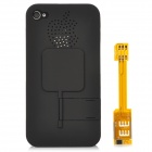 Dual SIM Card Adapter w/ Protective Plastic Back Case for iPhone 4 / 4S - Black